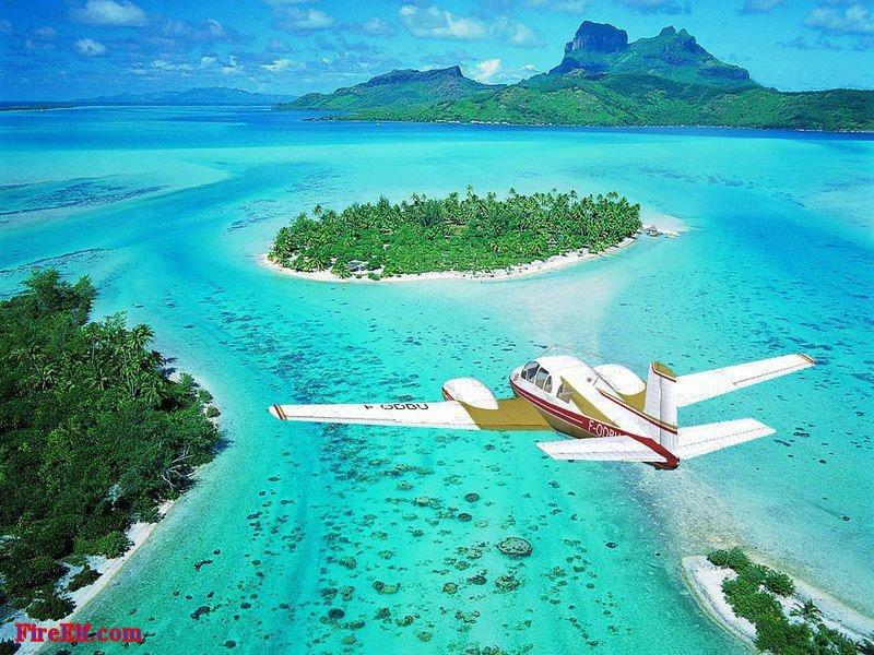 Bora-Bora--French-Polynesia-From-Plane