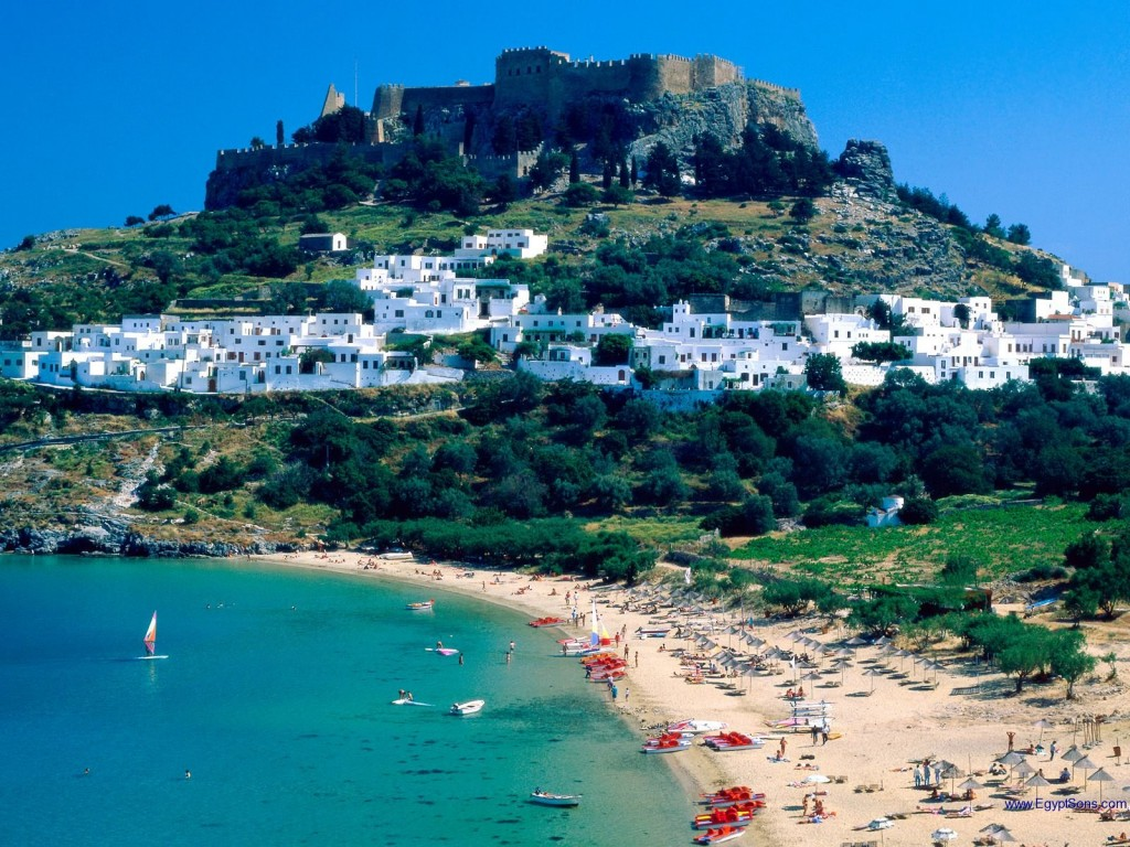 Rhodes-Island-The-white-town-Lindos-Greece