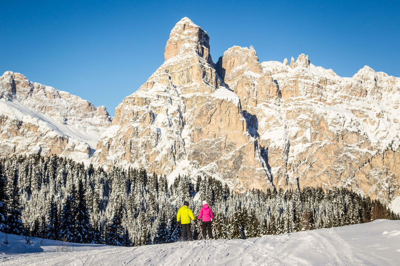 Skiing in the Dolomites 2