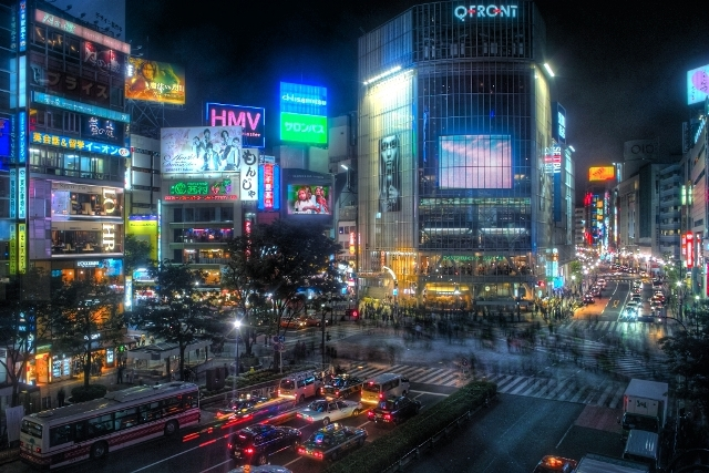 Shibuya_Night_(HDR)