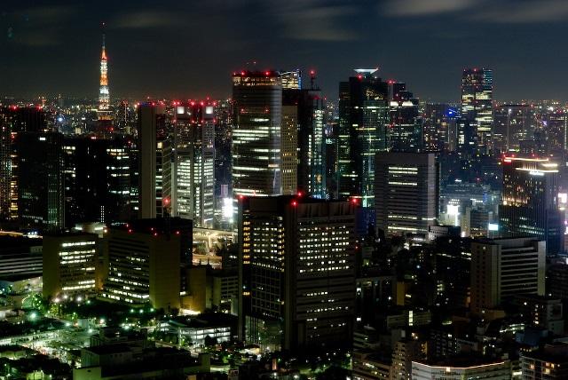 Shiodome_Area_-_Tokyo_night_view