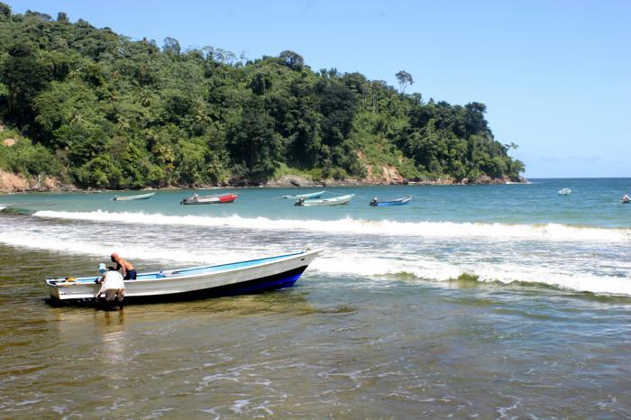 beach and boat Trinidad & Tobago