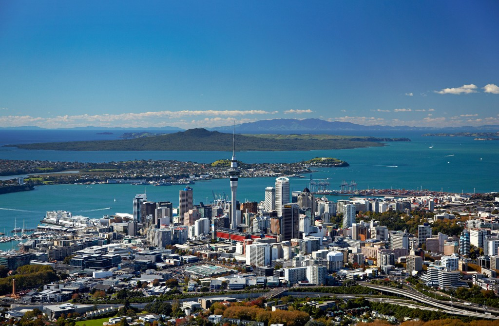 Auckland city, Westhaven Marina and harbour view, Auckland, New Zealand