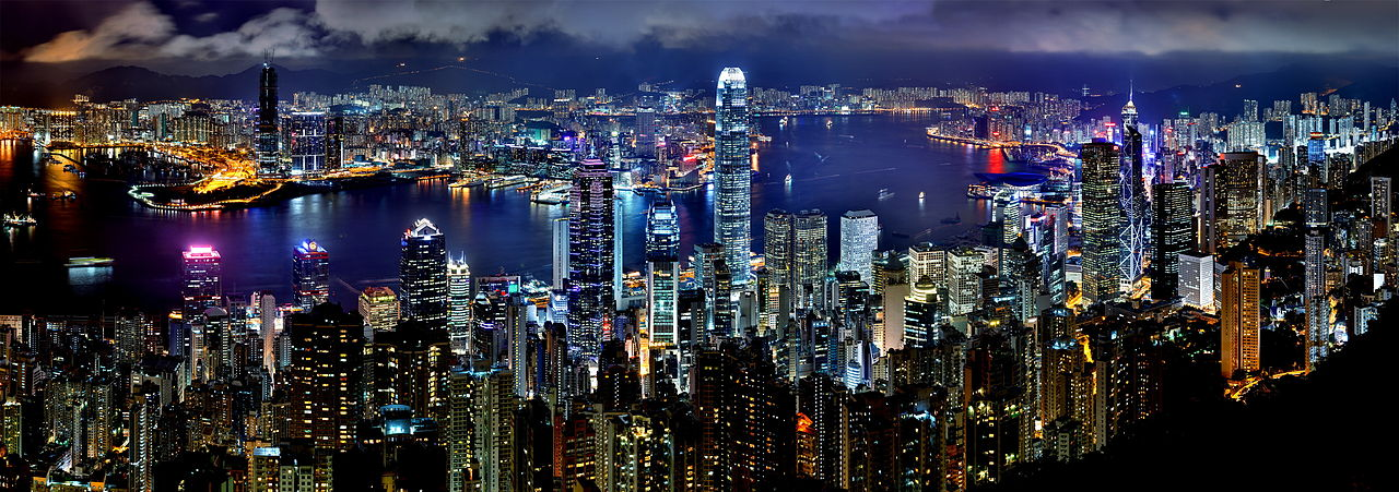 Hong Kong Night Skyline