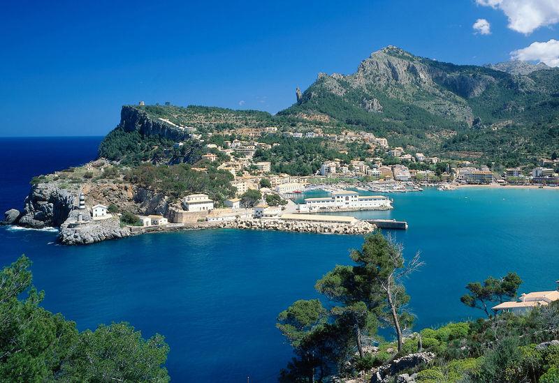 Bucht von Port de Soller, Mallorca, Balearen, Spanien