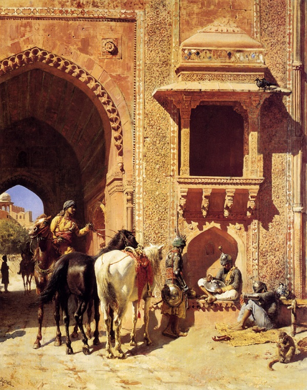 Weeks_Edwin_Gate_Of_The_Fortress_At_Agra_India