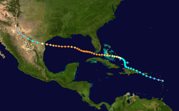 1919_Florida_Keys_hurricane_track