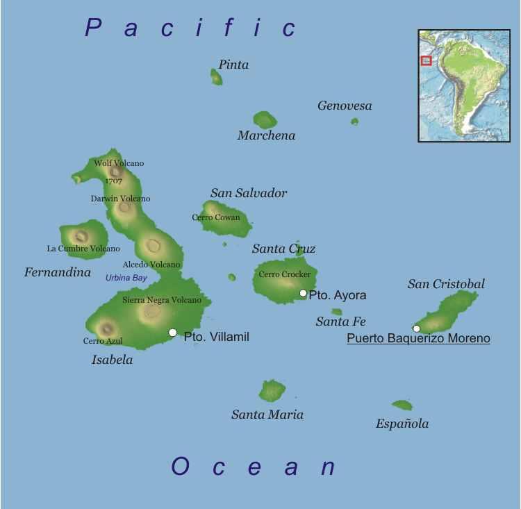 Galapagos+map