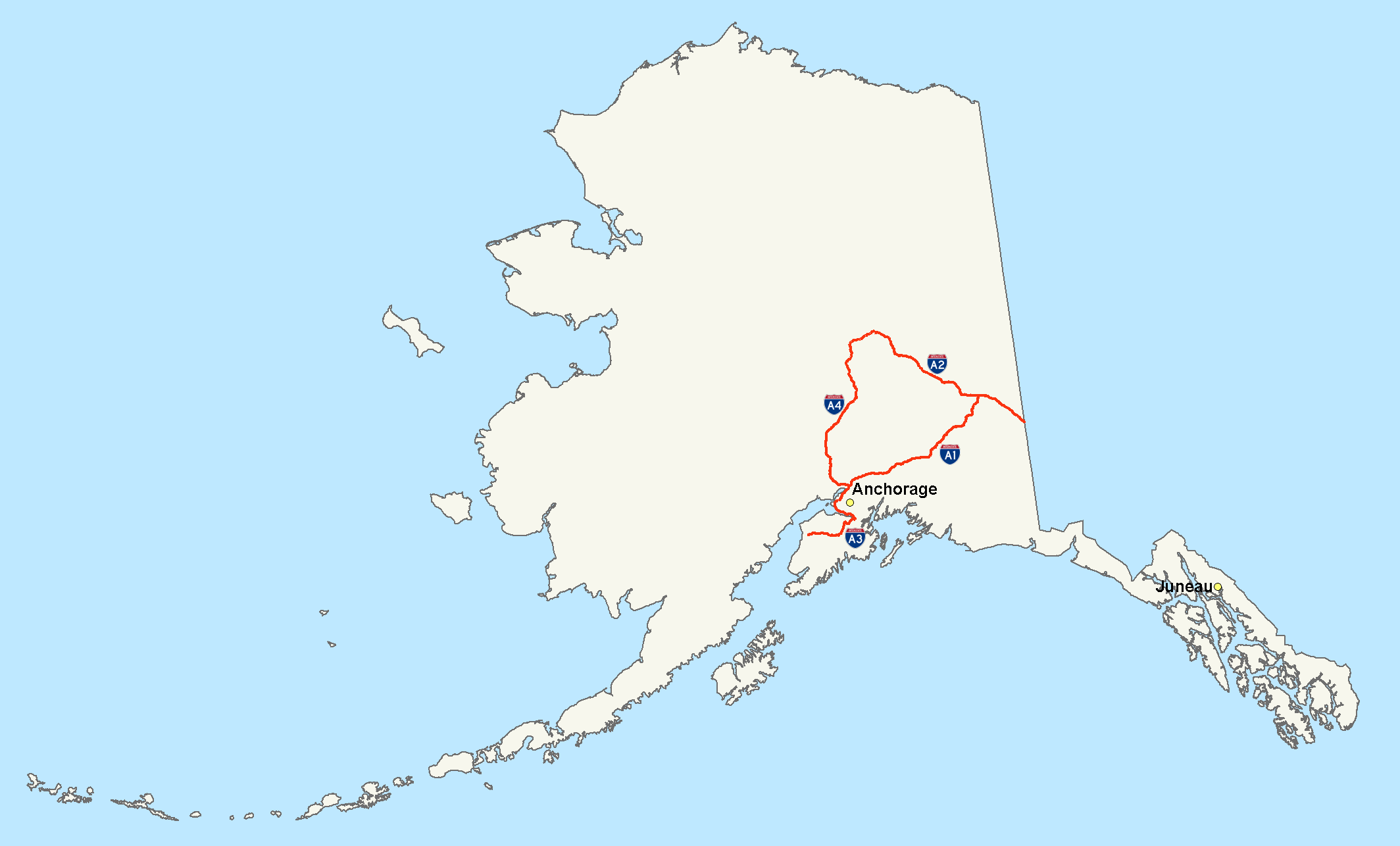 Alaska USA Tourist Destinations - Alaska us map