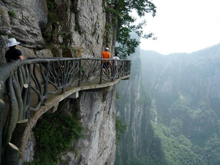 Cliffside-Steps-Hunan-China