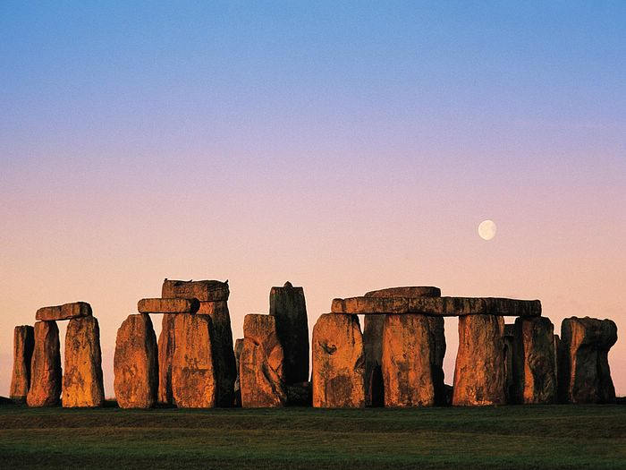 Stonehenge at Sunset, Wiltshire, England