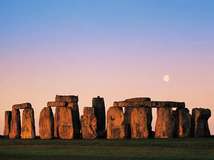 Stonehenge at Sunset, Wiltshire, England