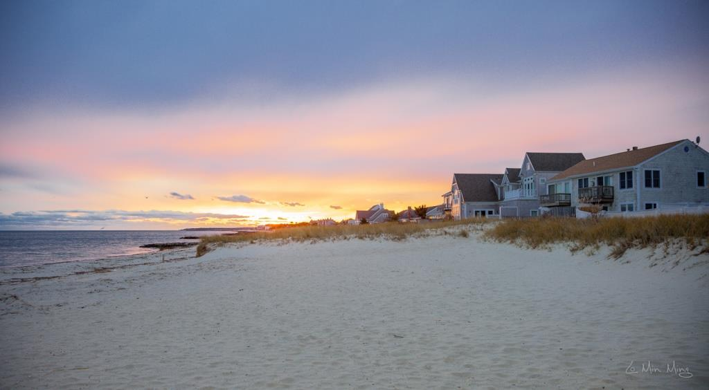 Cape Cod House Sunset