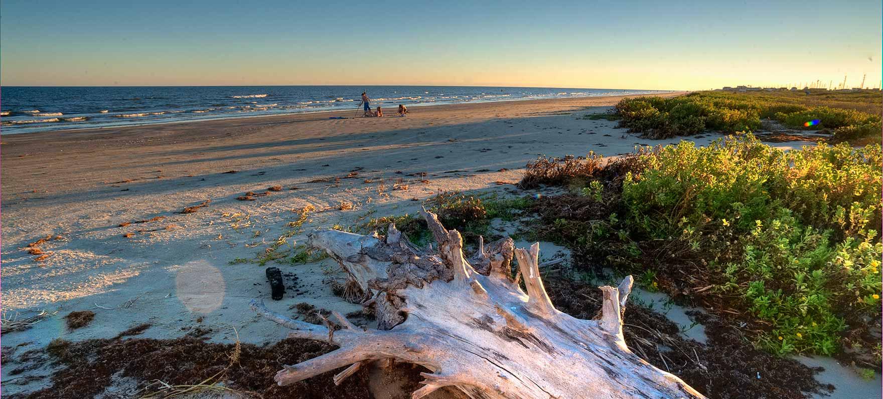 Galveston Island beach